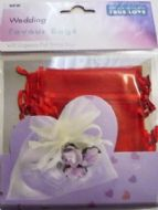 10 x Red Wedding Favour Organza Bags. 100mm x 75mm.
